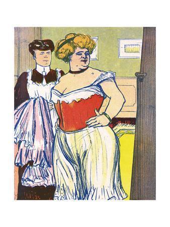 Stout Lady and Corset