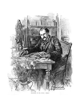Jules Massenet in Study