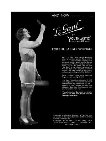 Advert for Le Gant Corsets for the Larger Women 1936