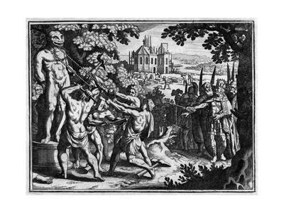 Destroying Saxon Idols