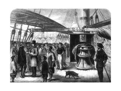 Taking the Census on Board Ship 1861