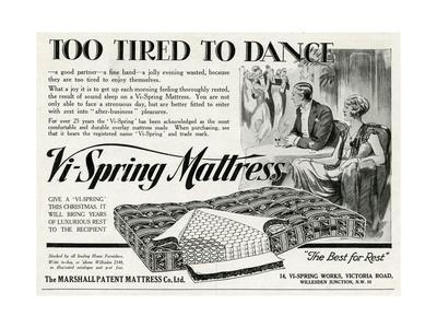Advert for Vi-Spring Mattress 1929