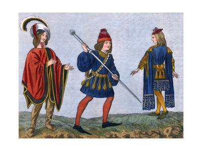 Costume of C15Th, Strutt
