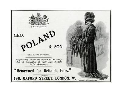 Advert Geo. Poland and Son Furs