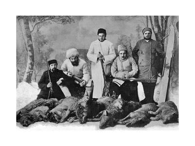 Tolstoy's Sons Hunting