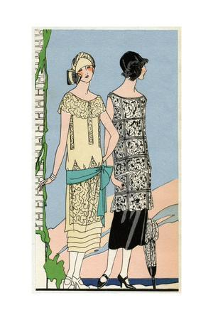 Two Young Ladies in Outfits by Bernard