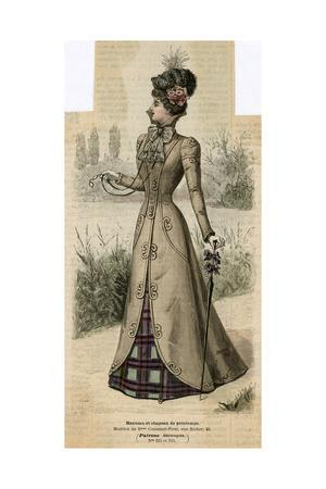 Coat and Tartan Dress 1899