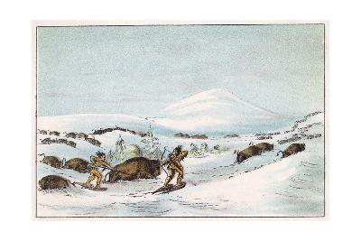 Sious Hunting in Snow