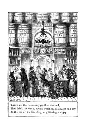 Customers from the Gin-Shop by Cruikshank