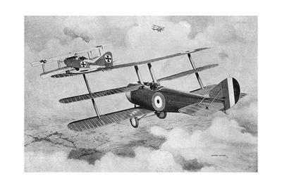 British Fighting Triplane in Action
