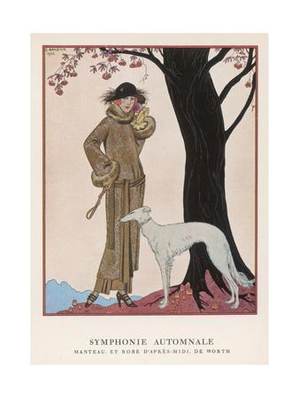 Lady and Saluki 1922