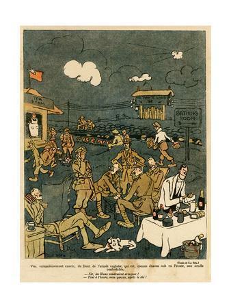 WW1 Cartoon, Luxury 1917