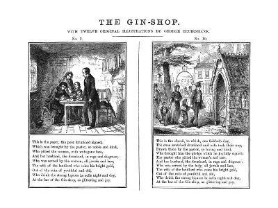 Cruikshank, the Gin Shop, Plate 9