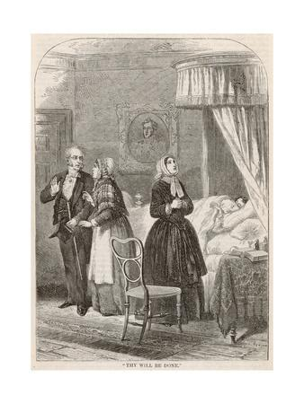 Doctor and Family in Deathbed Scene
