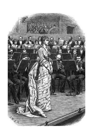 Singer and Orchestra, 1871