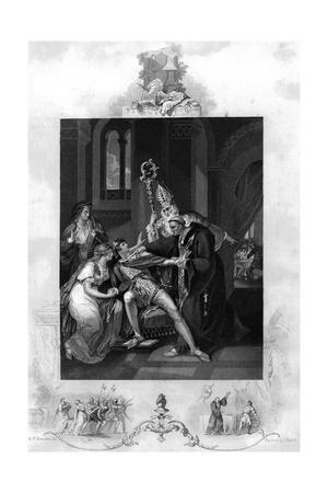 Eadwig Rebuked by Dunstan and Odo