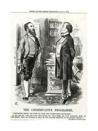 Disraeli, Tory Programme