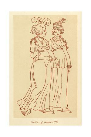 Frailties of Fashion 1793
