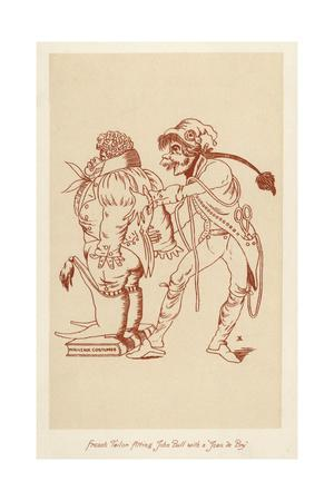 French Tailor Fitting John Bull with a Jean Debry 1799