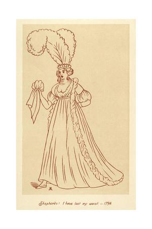 Caricature of Fashion 1794 Shepherds, I Have Lost My Waist