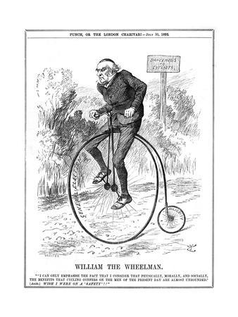 Gladstone as Cyclist