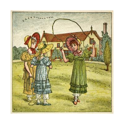 Three Girls with Skipping Ropes
