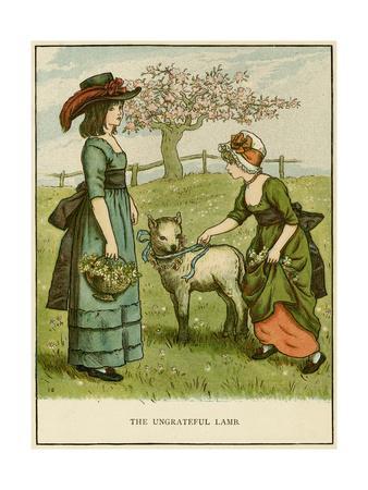 Illustration, the Ungrateful Lamb