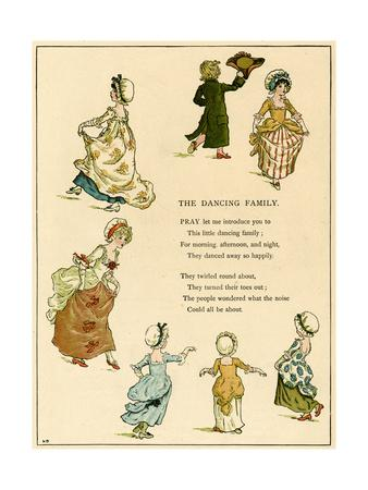 Illustration, the Dancing Family
