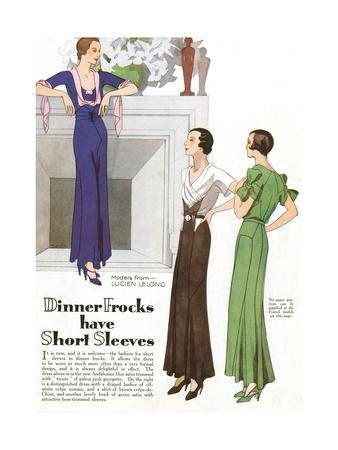Three Women in Dinner Frocks by Lucien Lelong