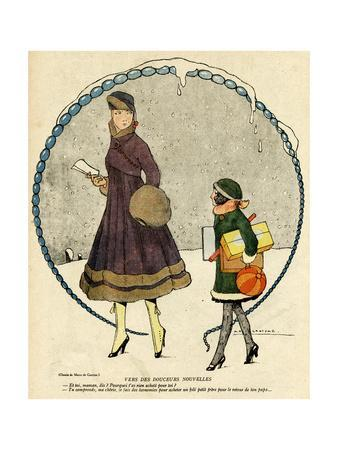 Fur-Edged Costumes 1916