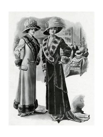 Women Wearing Fur-Lined Winter Coats
