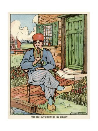 The Old Dutchman in His Garden