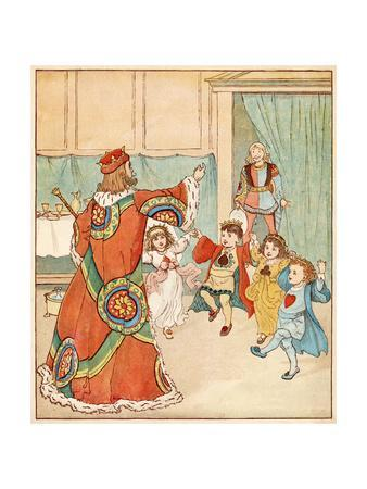 Nursery, Rhyme, the Queen of Hearts, Caldecott, 5 of 8
