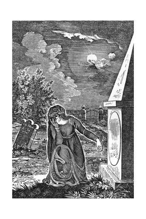 Lady at Tomb