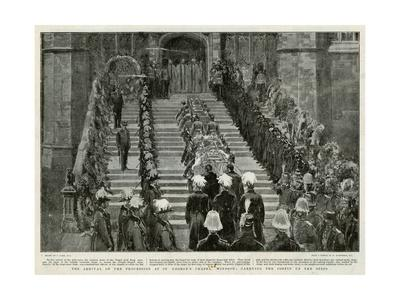 Victoria's Funeral Arrival at St George's Chapel Windsor