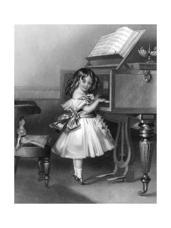 Music at Home - Little Girl at the Piano