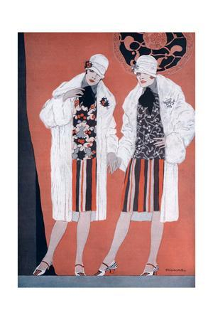 Two Fashionable Flapper Girls
