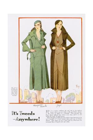 Tweed Fashions for 1932