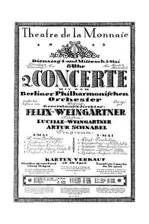 Concert Programme from Occupied Belgium, 1915