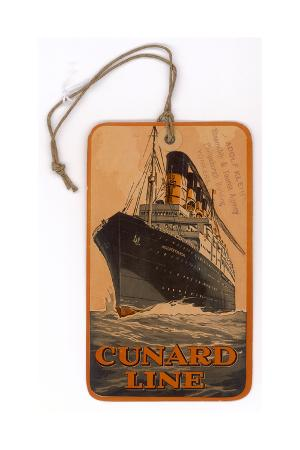 Baggage Label for the Cunard Line