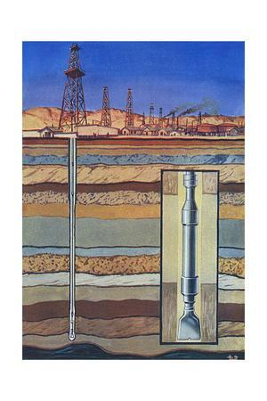 Drilling an Oil Well - Boring by Turbine