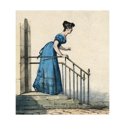 Costume Blue Dress 1820S
