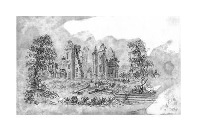 Sketch of Ruined Abbey