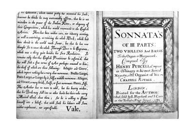 Music Score: Sonata by Purcell, 1683