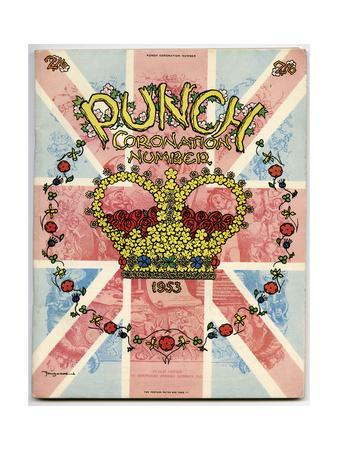 Front Cover for Punch Coronation Number 1953