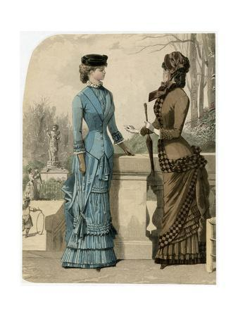 Brown or Blue Dress 1882
