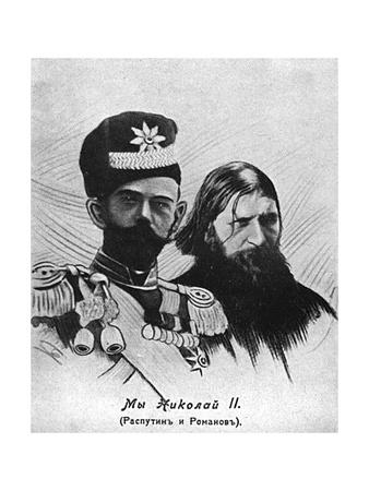 Rasputin with Nicolas II