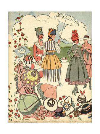 Parasols and Handbags 1916