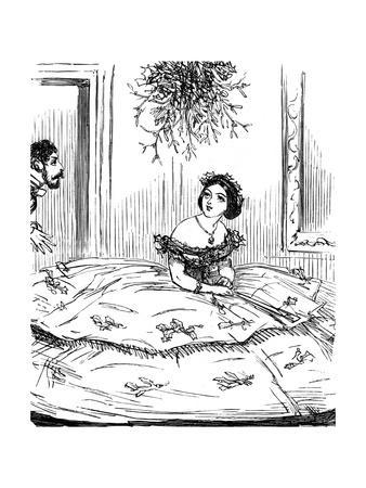 Mistletoe Thwarted by Crinoline, 1857