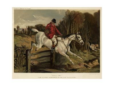 Tom Clarke, Huntsman, Jumping a Fence